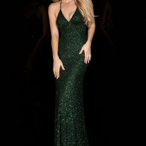 Emerald Green Scala Gown Prom Dress